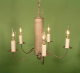 Colonial Reproduction Metal Chandelier-5