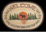 Moose Welcome Braided Rug