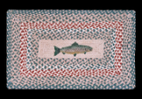 Braided Rug Fish Rectangle