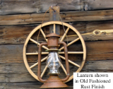 Wagon Wheel Lantern Sconce for Indoor/Outdoor use