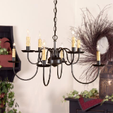 Bloomfield Wrought Iron Chandelier