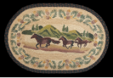 Braided Rug Oval Mountain Horse