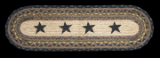 Braided Rug Stars Stair Treads (Set of 4)