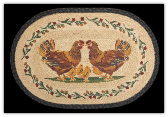 Braided Rug Country Chicks