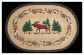 Braided Rug Moose Woods 20X30 Oval