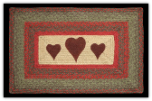 Braided Rug Hearts Rectangle