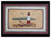 Braided Rug Lighthouse Rectangle
