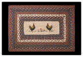 Braided Rug Chicks Rectangle