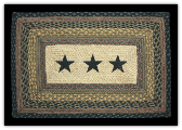 Braided Rug Stars 3 Rectangle