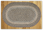 Braided Rug Oval Blue/Natural