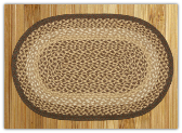 Braided Rug Oval Chocolate Natural