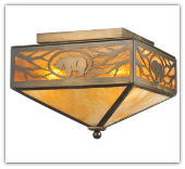 Grizzly Bear Flushmount Large Ceiling Light