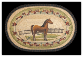 Braided Rug Oval Horse/Corral