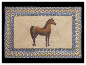 Braided Rug Horse Rectangle