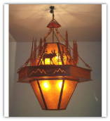 Moose in Forest Extra Large Pendant Light