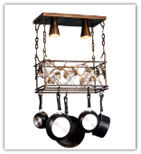 Whispering Pines Pot Rack and Light