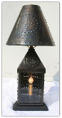 Old Time Pierced Tin Table Lamp