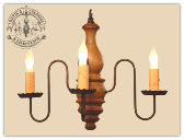 Abigail Rustic Wood Chandelier