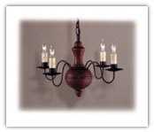 Country Wooden 4 arm Chandelier