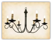 Washington Wrought Iron Chandelier