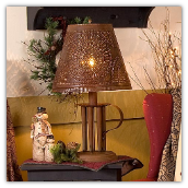 Candle Mold 7 Lamp with Willow Tin Shade