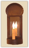 Crimped Mirror Rustic Sconce
