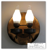 Gold Pan & Double Hurricane Sconce