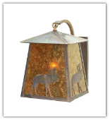 Stillwater Northwoods Lone Bear Curved Arm Wall Sconce