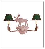 Moose Wall Sconce with Shades
