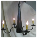 Antique Tin Cone Chandelier