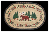 Braided Rug Bear Woods 20X30 Oval
