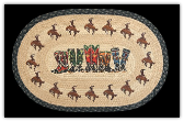 Braided Rug Cowboy Boots 20X30 Oval