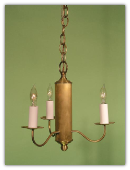 Colonial Reproduction Metal Chandelier-3