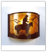Lone Cowboy Sconce
