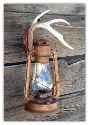 Antler Sconce-Electric Oil Lantern