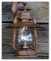 Old Time Rustic Cottage Electric Lantern Sconce
