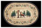 Braided Rug Deer Woods 20X30 Oval