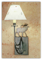Elk Pressed Flower Shade Wall Sconce