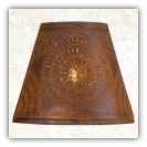 Fireside Pierced Tin Lamp Shade- Chisel Design
