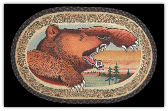 Braided Rug Grizzly Bear  20X30 Oval