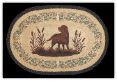 Braided Rug Hunting Dog