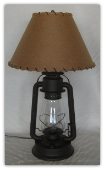 Old West Lantern Table Lamp with Shade
