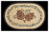 Braided Rug Large Pinecone 20X30 Oval