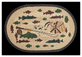 Braided Rug Lodge 2 Fishing