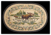 Braided Rug Moose Wading