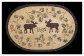 Braided Rug Moose Pinecone