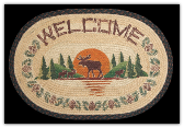 Braided Rug Moose Welcome