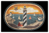 Braided Rug New England Lighthouse