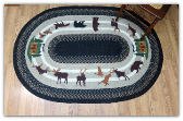 Lodge #3 Oval Patch 4X6 Braided Rug