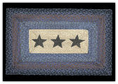 Braided Rug Stars Rectangle